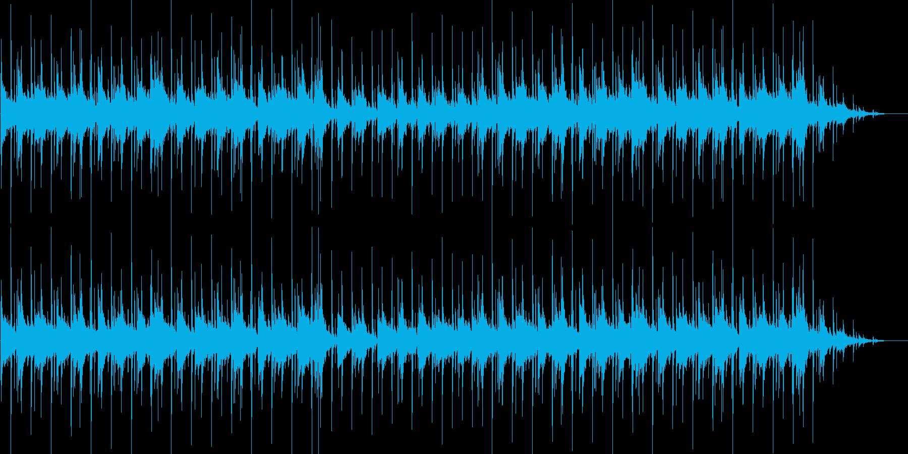 じんわりと染みるバンド調BGMの再生済みの波形