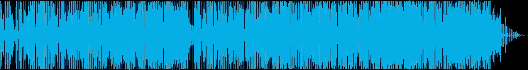 ヒップホップ風のダンスミュージック声無しの再生済みの波形