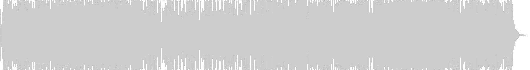 プラックシンセが特徴のリズミカルな電子曲の未再生の波形