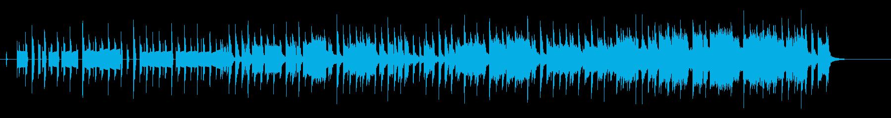 ピコピコ系ゲームのエンドロール風の楽曲の再生済みの波形