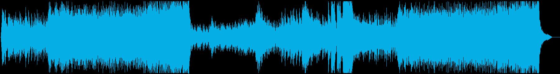 緊迫感のある6拍子のオーケストラBGMの再生済みの波形