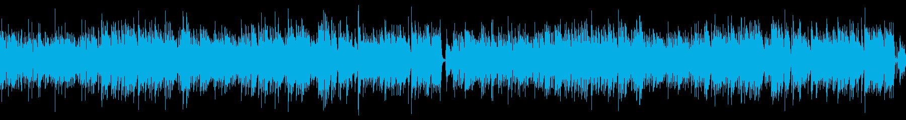 ドラムなし/ループ/ギター生演奏ボサノバの再生済みの波形