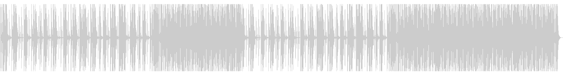 単調なテクノの未再生の波形
