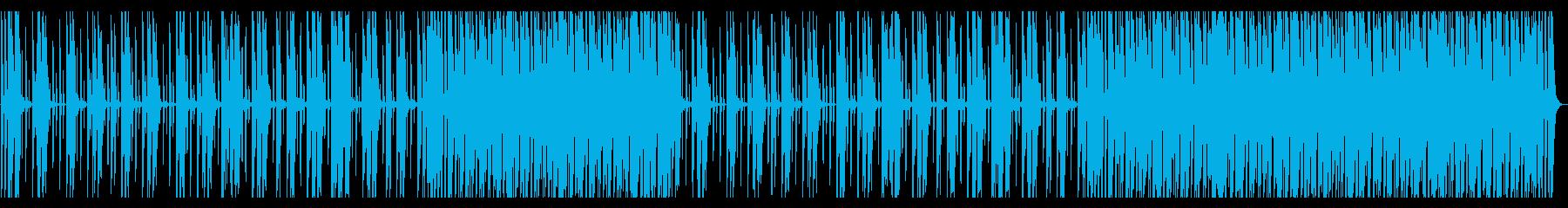 単調なテクノの再生済みの波形
