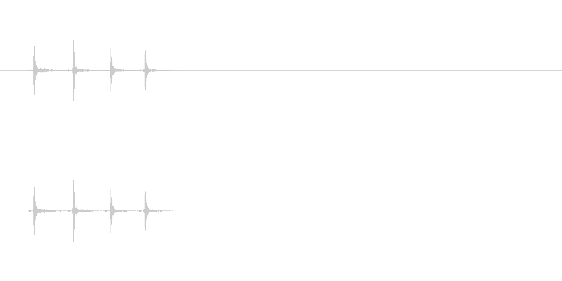 【カッター01-2(カチカチ)】の未再生の波形
