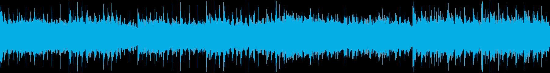 ホラーやRPGダンジョンをイメージした曲の再生済みの波形