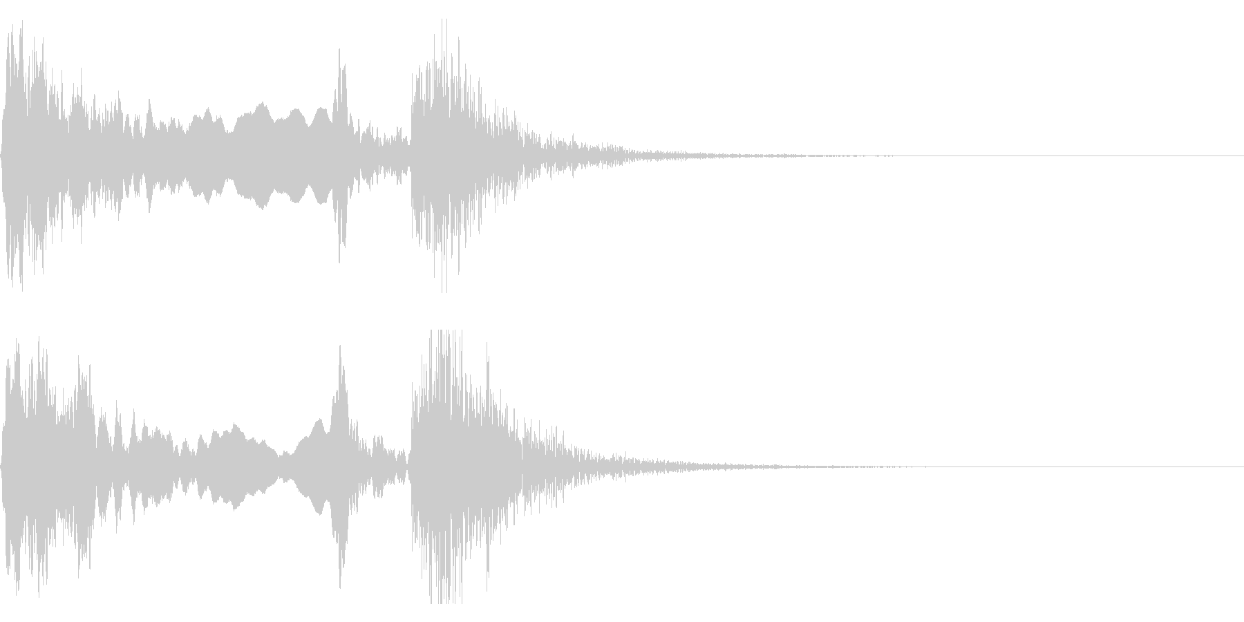和風な歌舞伎の笛(能管)太鼓インパクト6の未再生の波形