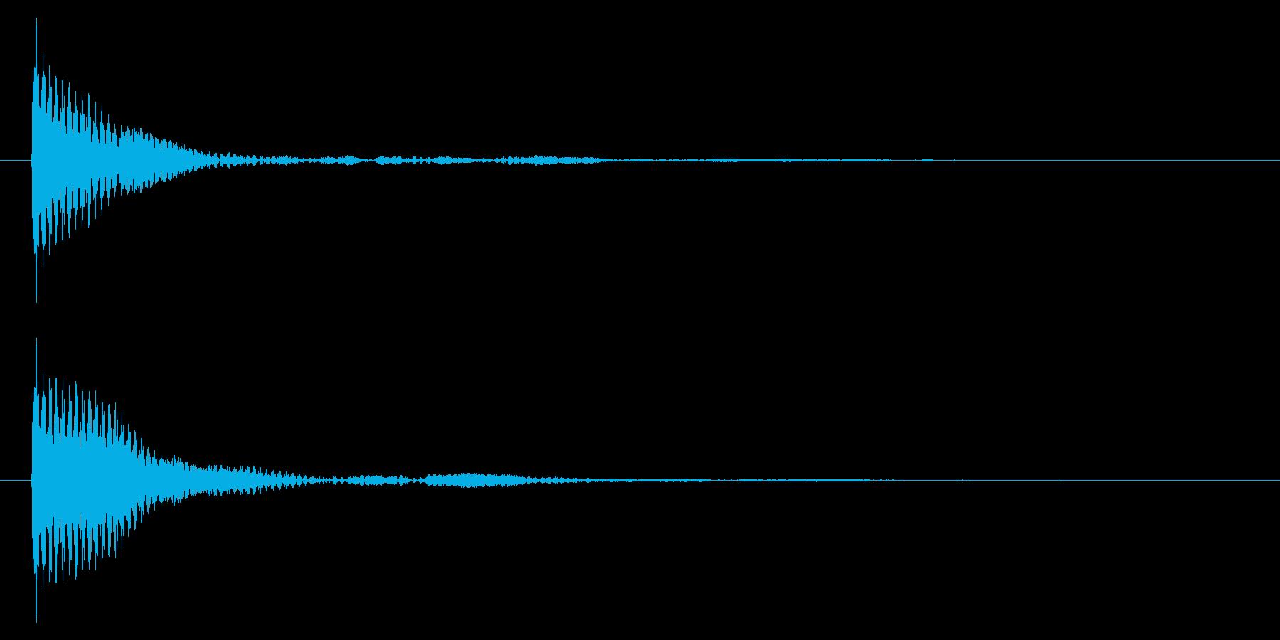 ポン カーソル音 タップ音 E-05_の再生済みの波形