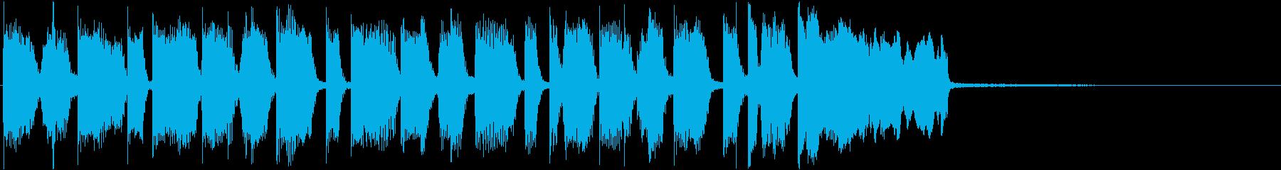 アイキャッチ・場面転換・激しい・ロックの再生済みの波形