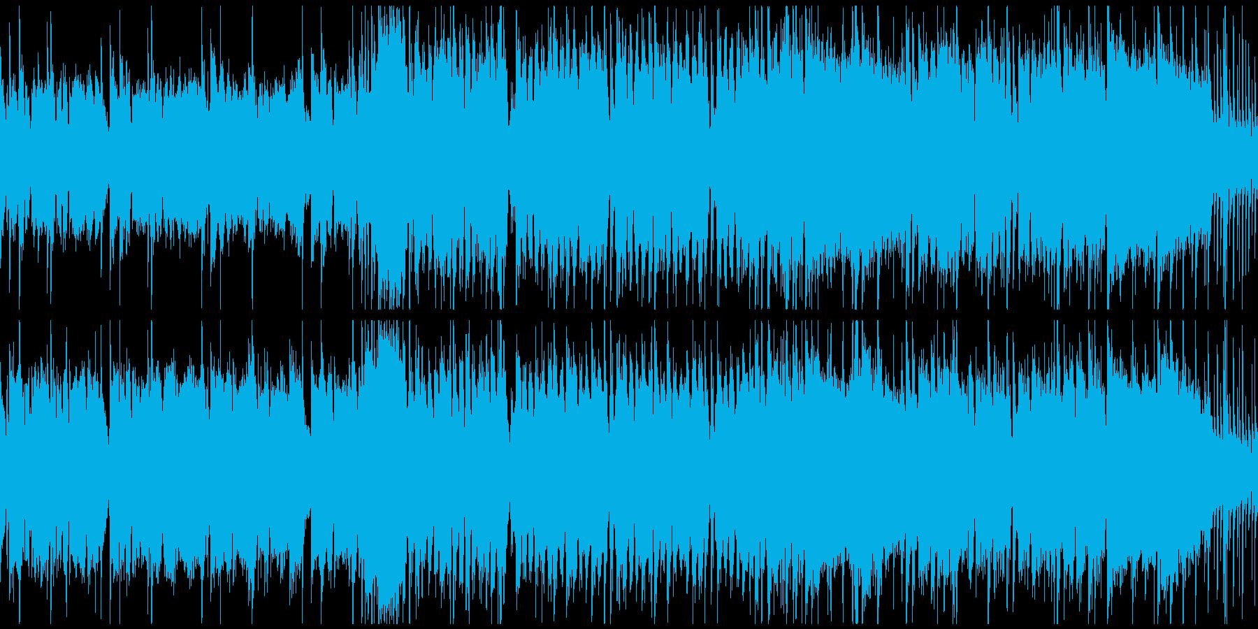 炎と戦闘のギターロックのループ仕様の再生済みの波形