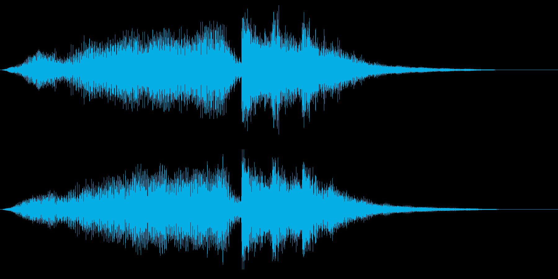 タイトル オケと衝撃 テンポ速めの再生済みの波形