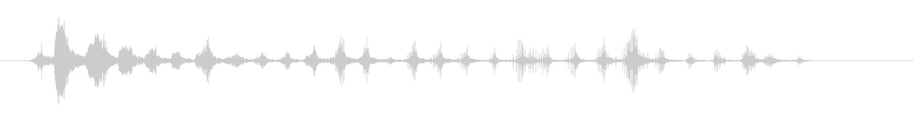 笑っている漫画のマウスの未再生の波形