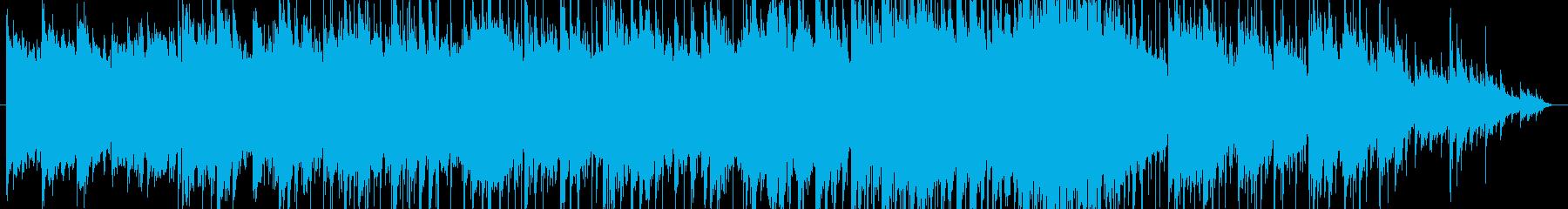 ほのぼのとした浮遊感のあるポップな曲の再生済みの波形