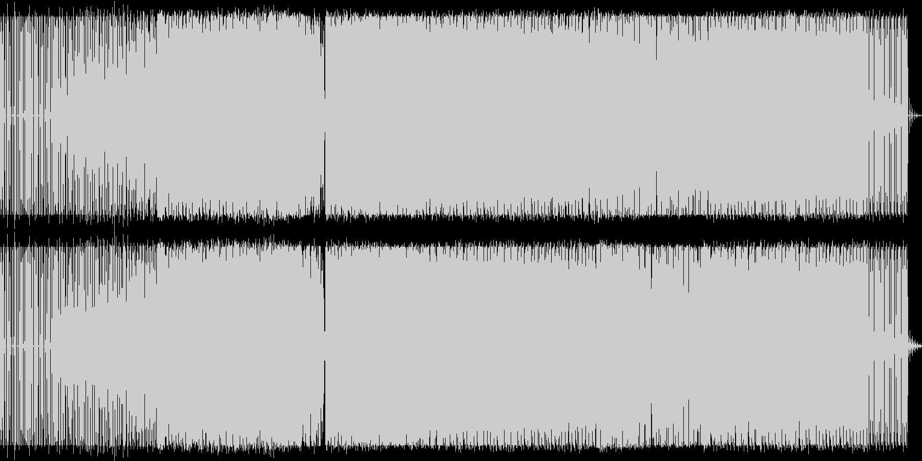 テクノ アングラ ミュージックの未再生の波形