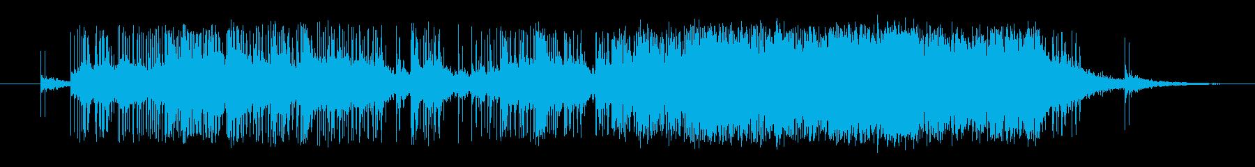 大量の爆竹が爆発する音の再生済みの波形
