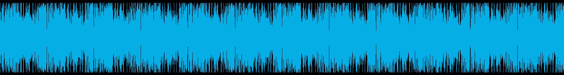 ハードなかっこいいEDM系の再生済みの波形