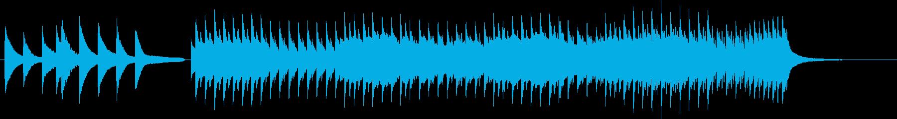 ピアノとバイオリンの軽くて短いBGMの再生済みの波形
