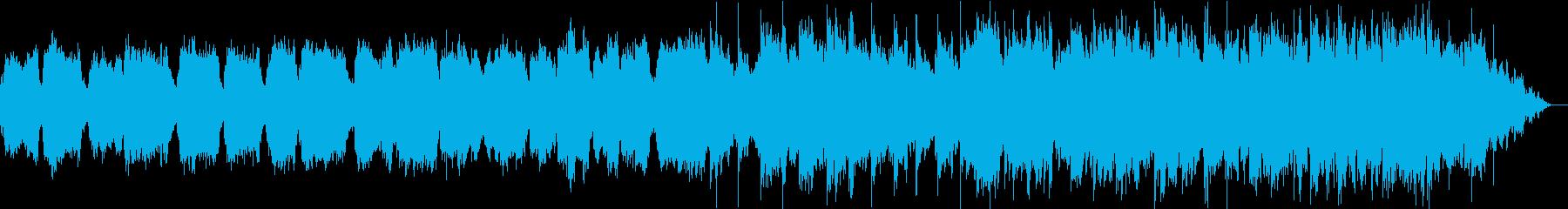 ひっそり静かな笛とシンセサイザーの再生済みの波形