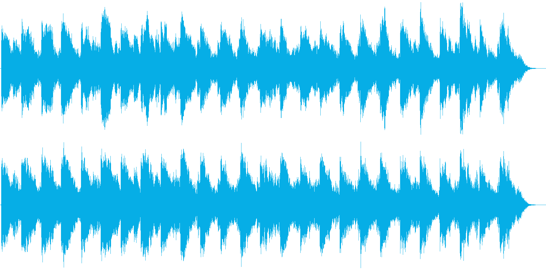 CloudyWindの再生済みの波形