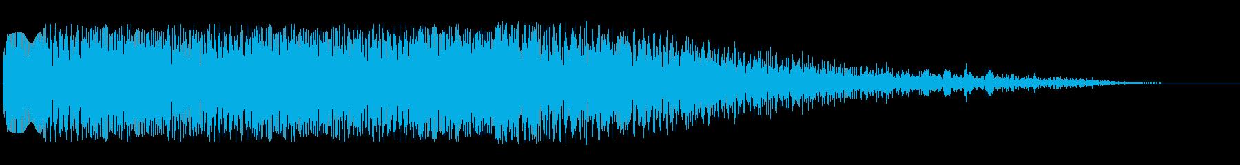 ニュース番組等のオープニング音の再生済みの波形