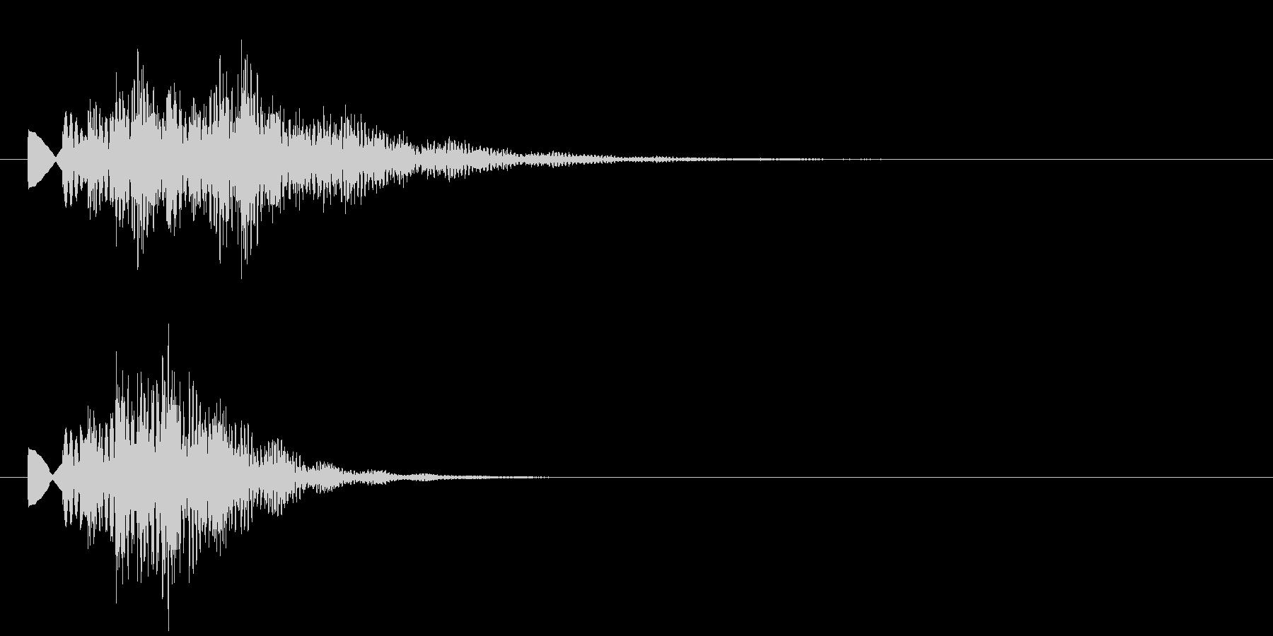 タラン2 情報SE発見音 明るすぎずの未再生の波形