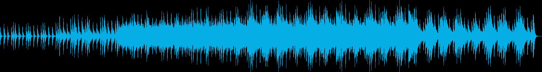 緩やかな盛り上がりのある縦刻みの再生済みの波形