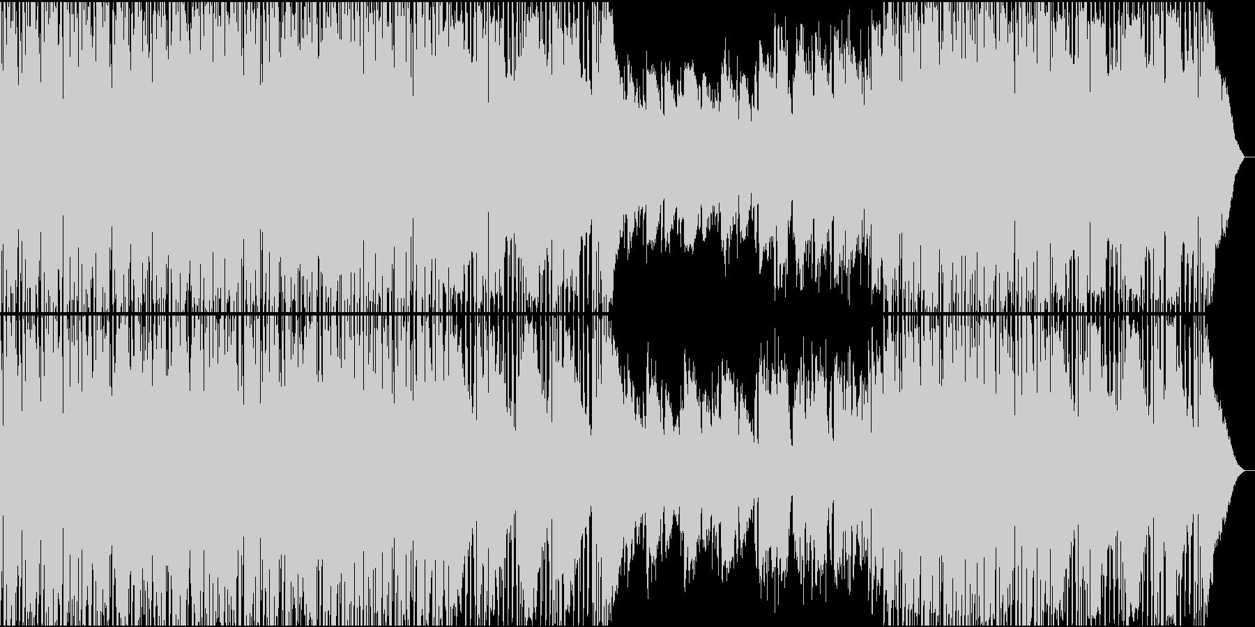雨上がりの情景の未再生の波形