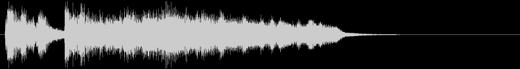 ジャズサウンドロゴ、ニュース、場面転換等の未再生の波形