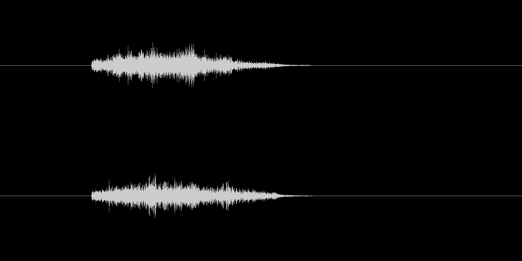 シュワーン ワープ 瞬間移動 ダッシュの未再生の波形