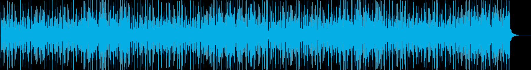 大人でジャジーで軽快なリズムのBGMの再生済みの波形