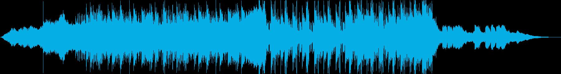 海外風Vlog等動画向けのエレクトロニカの再生済みの波形