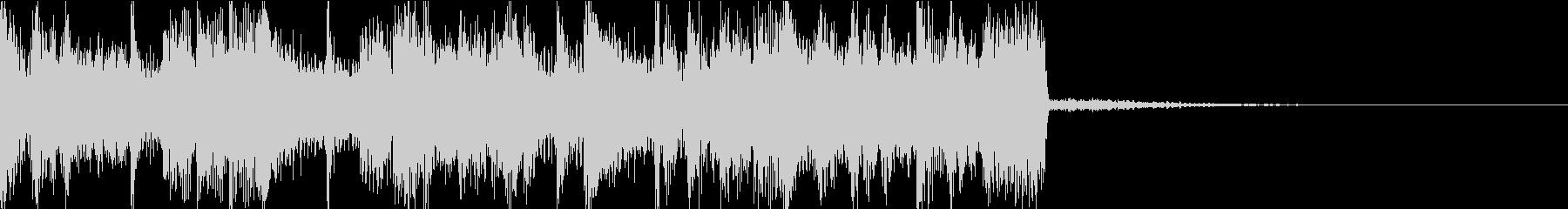 ダークな電子音のテクノ系アイキャッチの未再生の波形