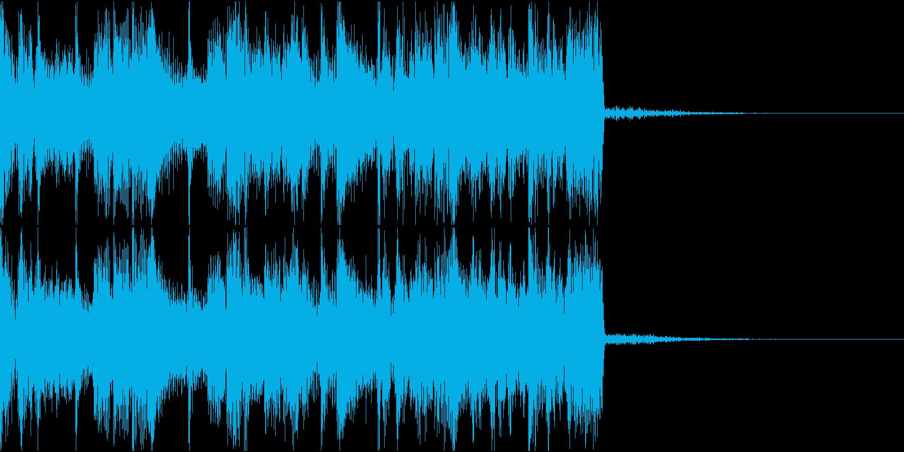 ダークな電子音のテクノ系アイキャッチの再生済みの波形