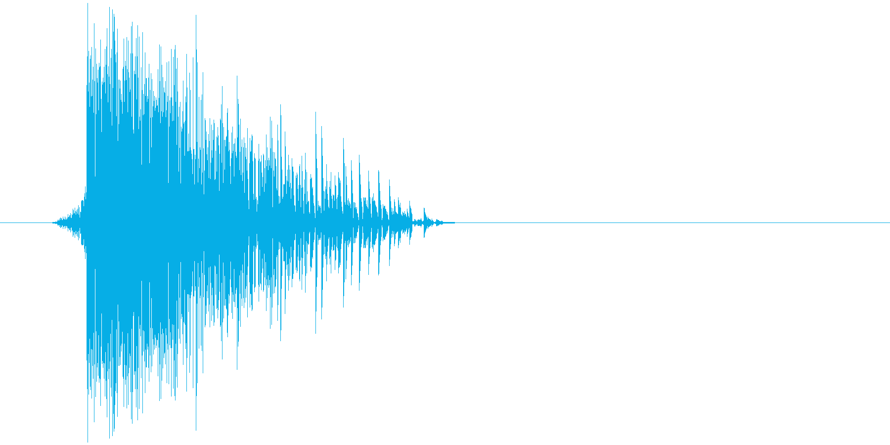ゲーム(ファミコン風)ヒット音_039の再生済みの波形