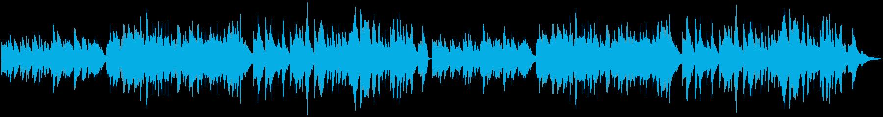優しいメロディのバラード ピアノの再生済みの波形