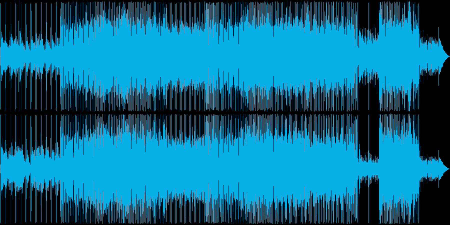日常から離れて癒されるトレッキングの曲の再生済みの波形