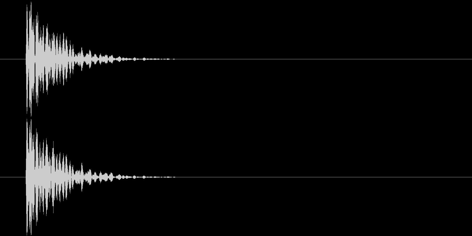 ポン(ゲーム、決定)の未再生の波形