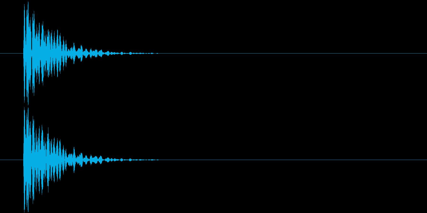 ポン(ゲーム、決定)の再生済みの波形