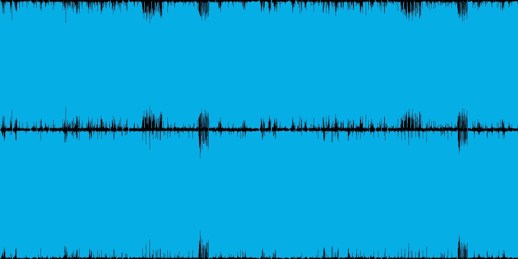 ループ仕様の激しくも哀愁漂うボス戦闘オケの再生済みの波形