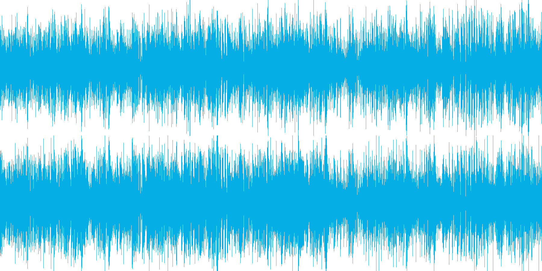 お洒落なジャズピアノ&ギター ループの再生済みの波形