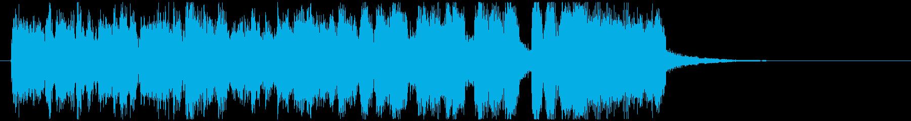 カジノ、ジャズ系ファンファーレ ※9秒版の再生済みの波形