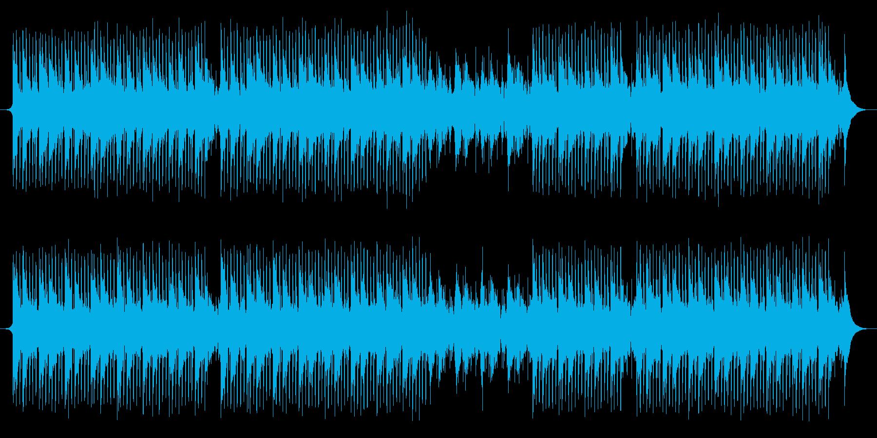 科学音楽の再生済みの波形