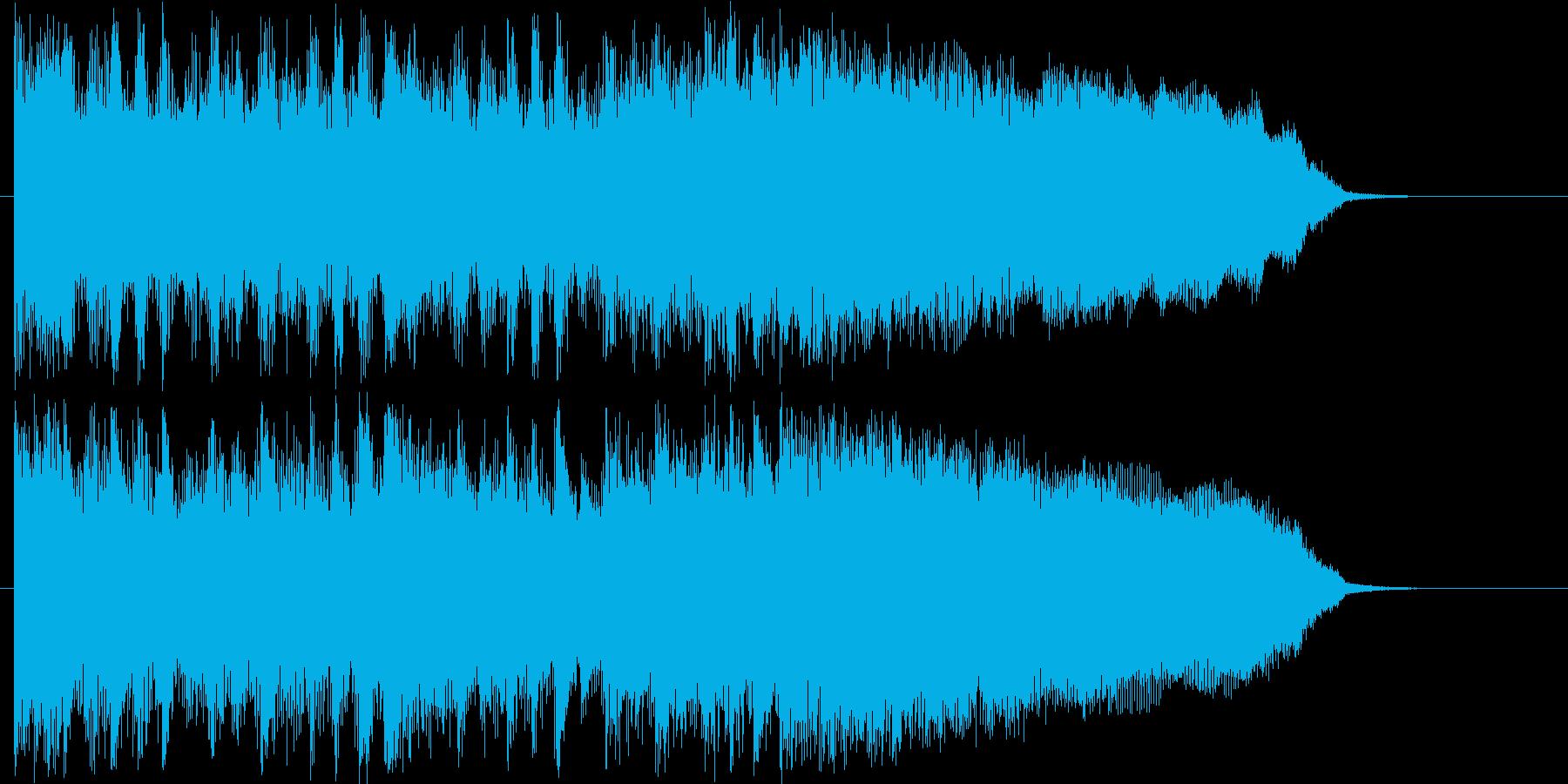 ギターのリフがかっこいいロックなジングルの再生済みの波形