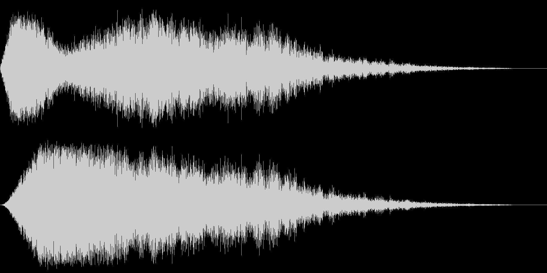 インパクト音(恐怖/緊張感)の未再生の波形