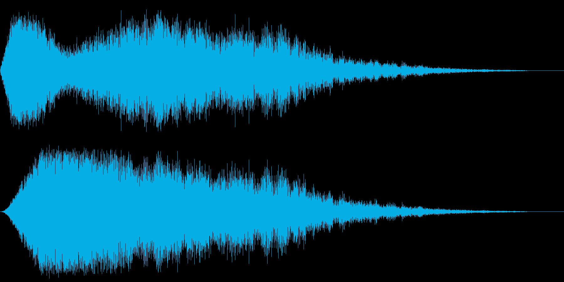 インパクト音(恐怖/緊張感)の再生済みの波形