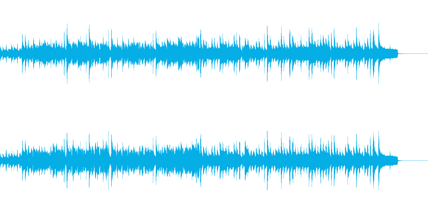 エスニックな、アジアンテイストのBGMの再生済みの波形