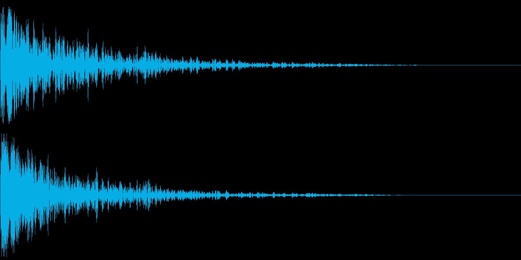 【ゲーム演出】衝撃音 ドーンッ!の再生済みの波形