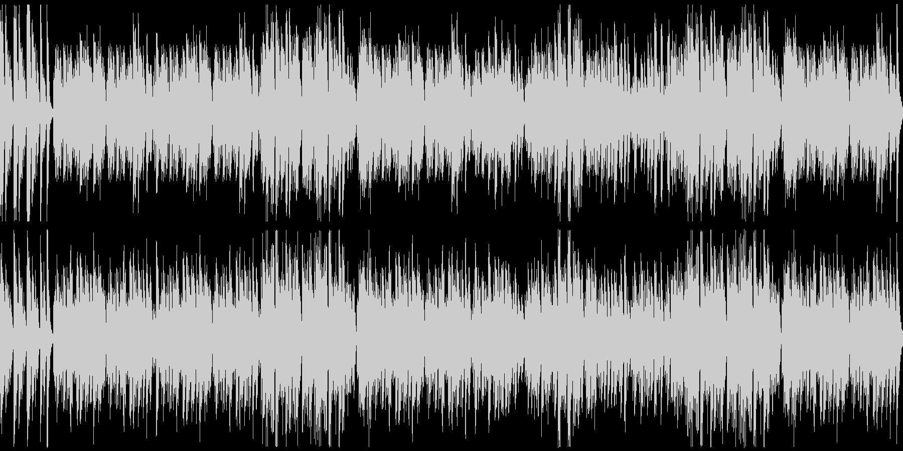 オーソドックスな陽気なラグタイムの未再生の波形