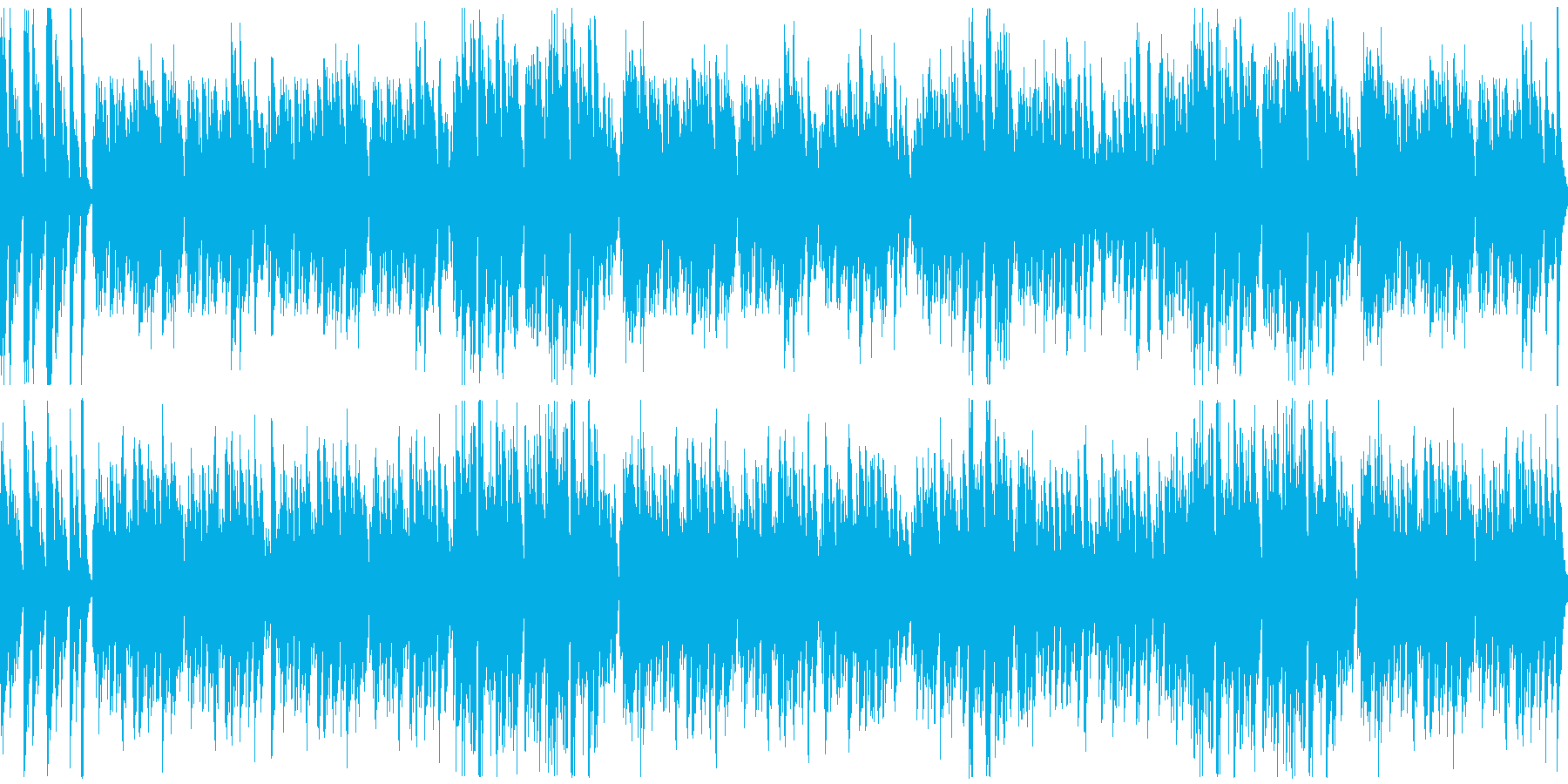 オーソドックスな陽気なラグタイムの再生済みの波形