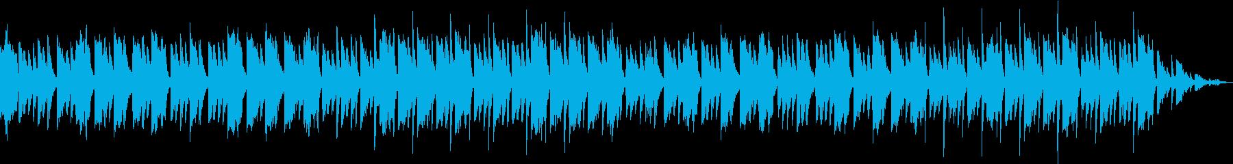 乳児の入眠をサポートする癒やしの音楽の再生済みの波形